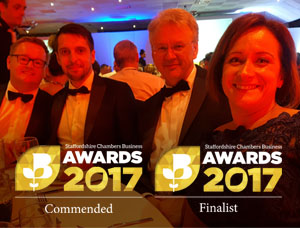 Eurostar global makes final 4 at the Staffordshire Chambers of Commerce Awards