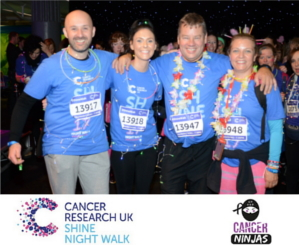 Eurostar's MD - Peter Carnall completes the Shine Walk 2017 in aid of Cancer Research
